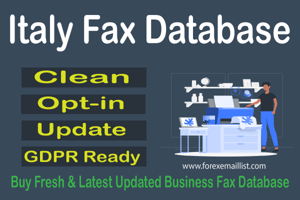 Italy Fax Database
