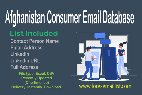 Afghanistan Consumer Email Database