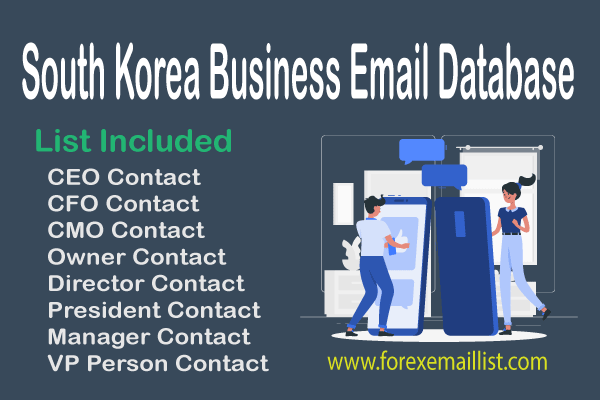 South Korea Business Email Database